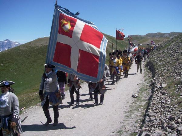 Rievocazione della battaglia dell'Assietta: uno dei momenti più significativi nella storia del Piemonte moderno. Foto di Paolo Barosso