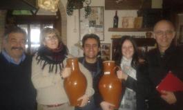Mimmo La Vecchia, Tania Mauri, Manuel Lombardi, io e Franco Pepe all'Agriturismo La Campestre