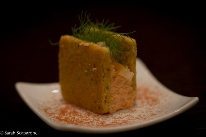 Mousse al salmone affumicato con pistacchi
