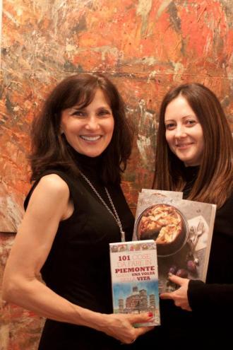 Io e Francine con i nostri libri usciti quasi contemporaneamente in Italia e in America