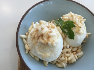 Crispy rice gelato