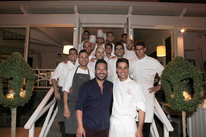 Pasquale Palamaro e Danny Imbroisi durante una delle Summer Dinner 2016 all'Indaco (c) Albergo Regina Isabella