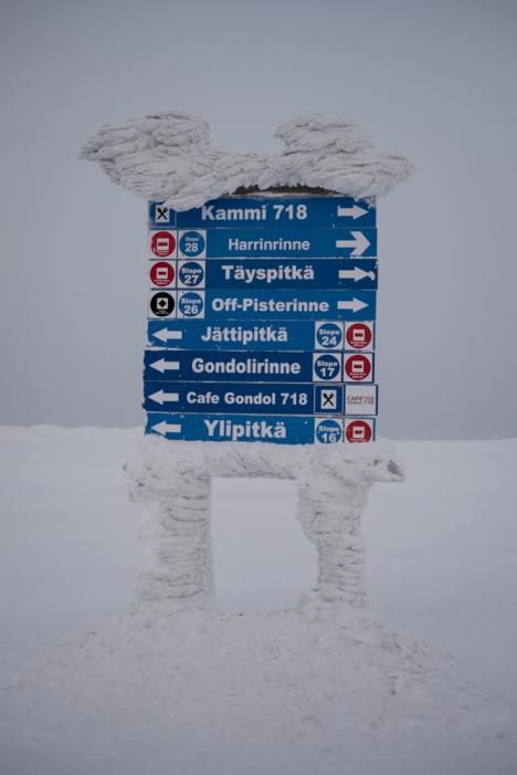 In cima all'YllasTunturi (700 metri circa)