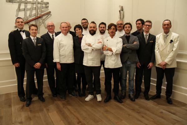 Il team del Ristorante Carignano