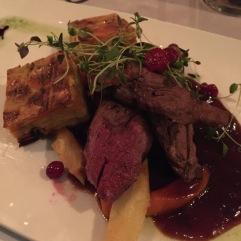Il filetto di renna del Restaurant Rouhe