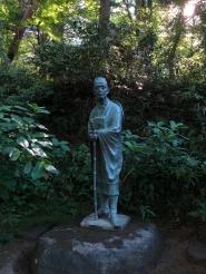 Basho nel parco del Chuson-ji Temple