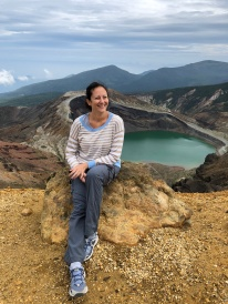 Il lago naturale del cratere Okama