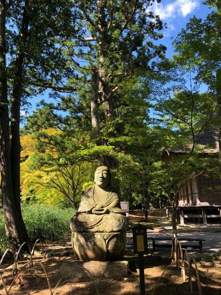 Nel parco del Motsū-ji
