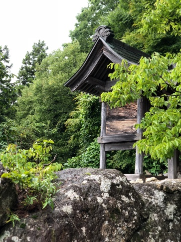 Nel parco del Risshaku-ji Temple