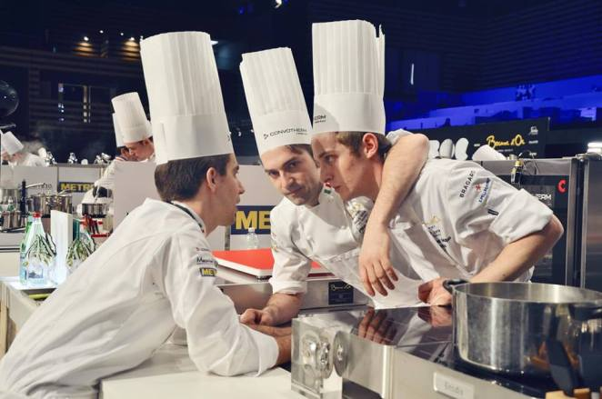 Martino Ruggieri e il suo team (c) Accademia Bocuse d'Or Italia
