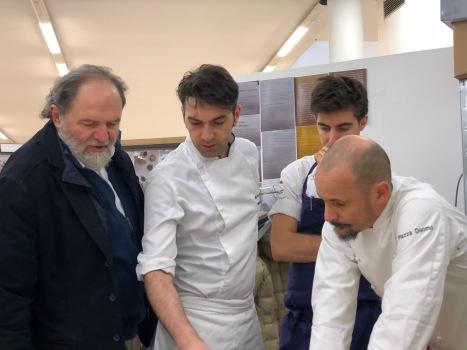 Ruggieri con Luciano Tona ed Enrico Crippa