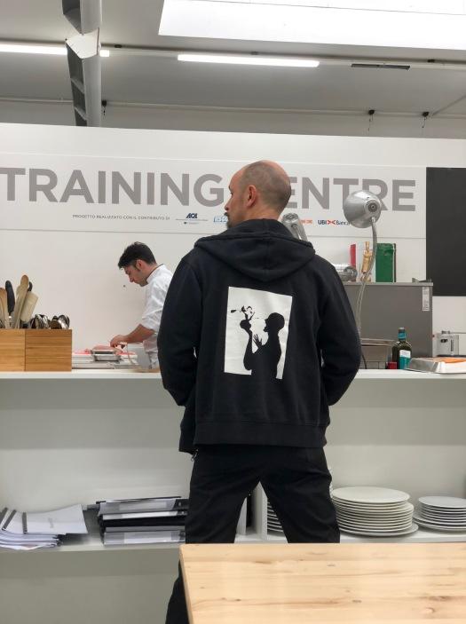 Enrico Crippa al Training Center di Alba