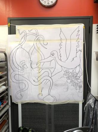 Il primo disegno su carta della piece