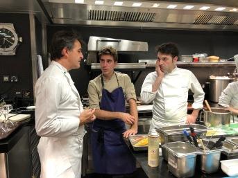 Pavillon Ledoyen in cucina con Yannick Alleno, Martino Ruggieri e Francois Poulain