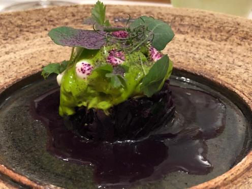 Uno dei piatti vegetariani del Tian