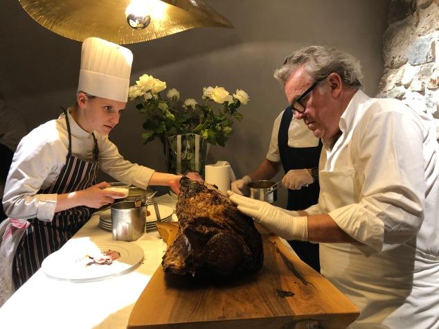 La cena di Alain Passard a Ein Prosit