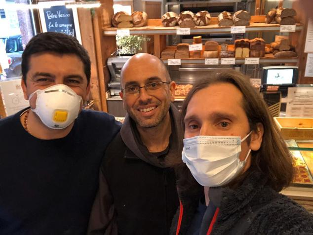 Andrea Perino e Oliviero Alotto con Frate Davide Ferla, Frati Minori - Convento S. Antonio da Padova a Torino